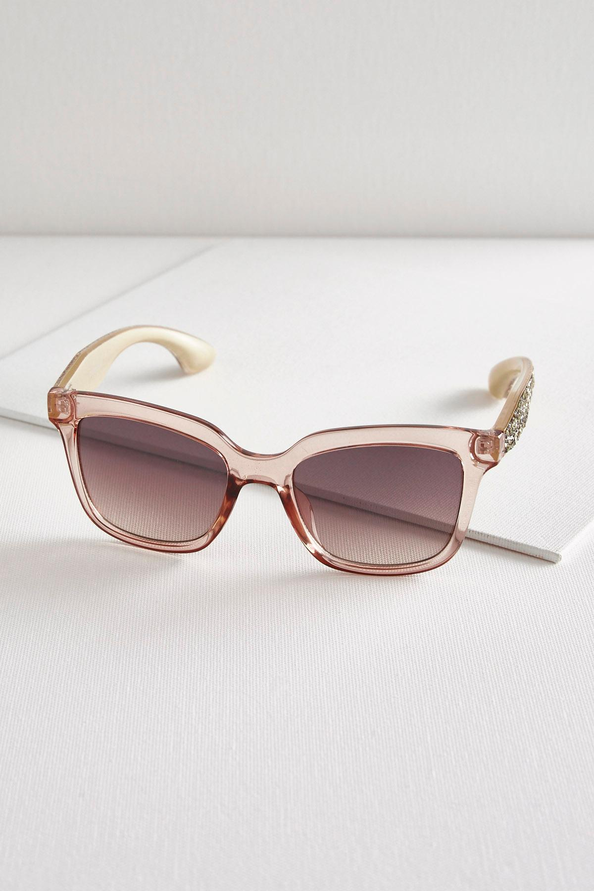 Chipped Stone Arm Catyeye Sunglasses