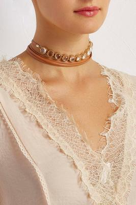 stone center wrap choker