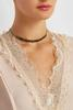 Beaded Faux Suede Choker