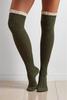 Ruffled Crochet Over The Knee Boot Socks