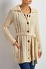 Belted Cable Knit Cardigan