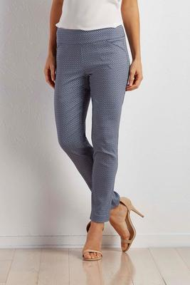 fishnet slim leg ankle pants