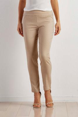 herringbone slim leg ankle pants