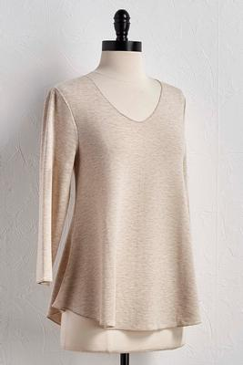 heathered knit swing top