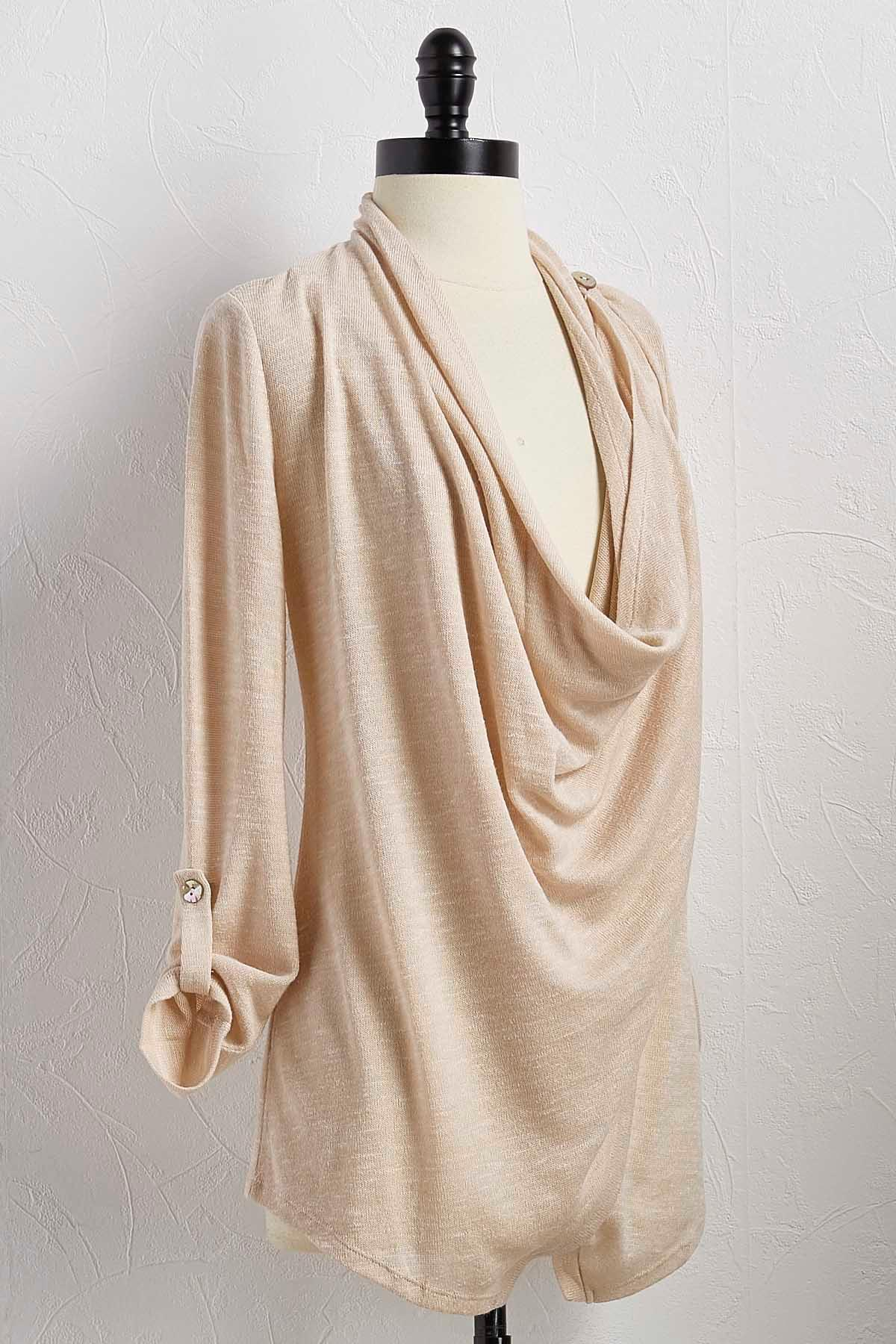 Draped Wrap Cardigan