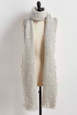 boucle knit oblong scarf
