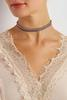 Beaded Velvet Choker Set