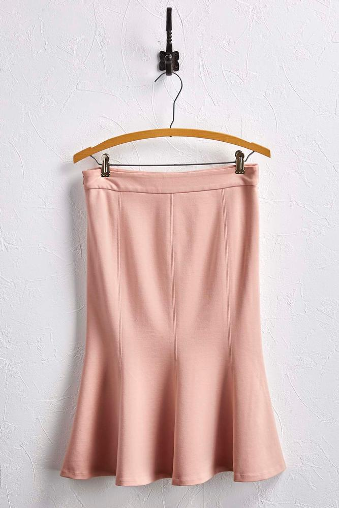 Ponte Knit Flounced Skirt