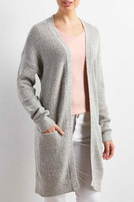 button back duster cardigan