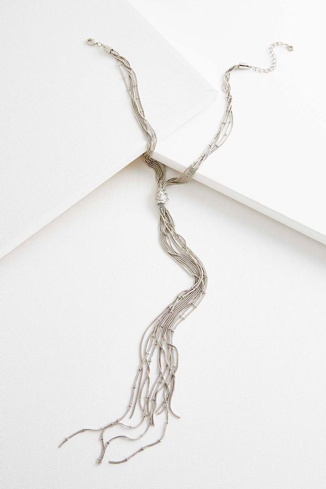 Snake Chain Tassel Y- Necklace