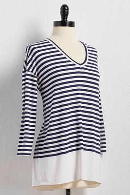 striped dolman tunic