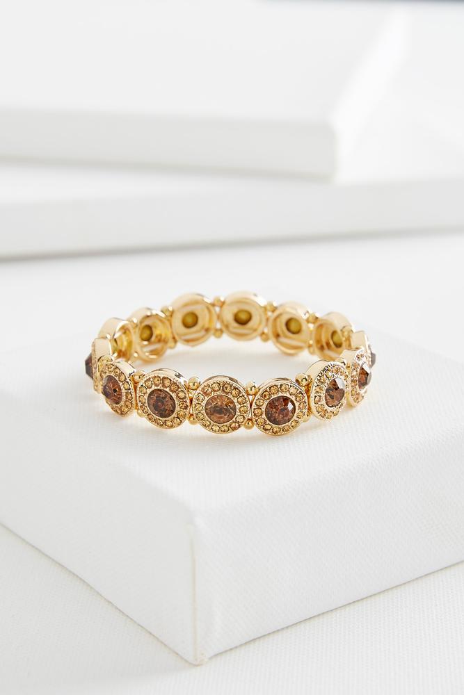 Round Stone Stretch Bracelet