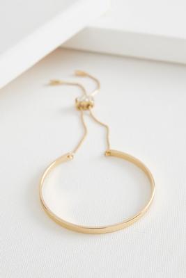 skinny cuff brass bracelet