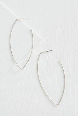 geometric wire hoop earrings