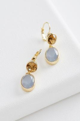 double stone dangle earrings