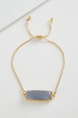 rectangle stone pull string bracelet
