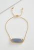 Rectangle Stone Pull String Bracelet