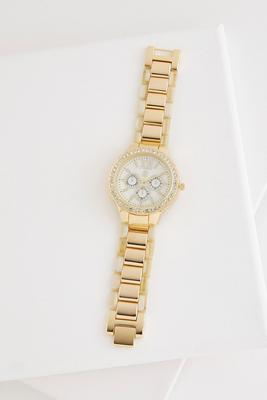 shell bordered boyfriend watch