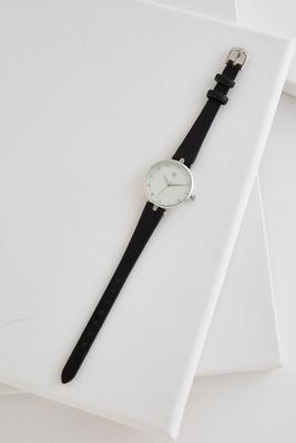 skinny faux leather band watch