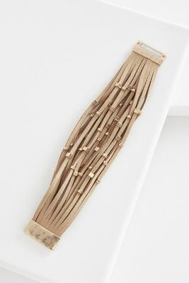 faux suede wrap bracelet