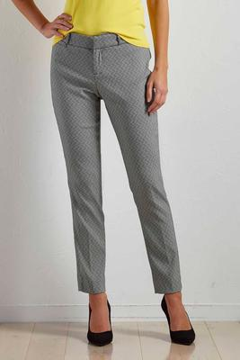 zig zag greek key everyday ankle pants