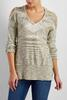 Double Bare Shoulder Marled Sweater