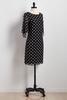 Polka Dot Tie Sleeve Shift Dress