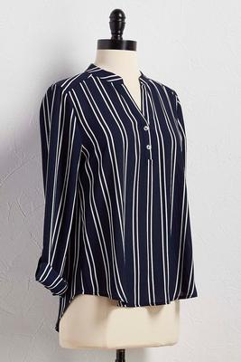 striped henley top