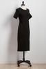 Front Slit Sheath Sweater Dress