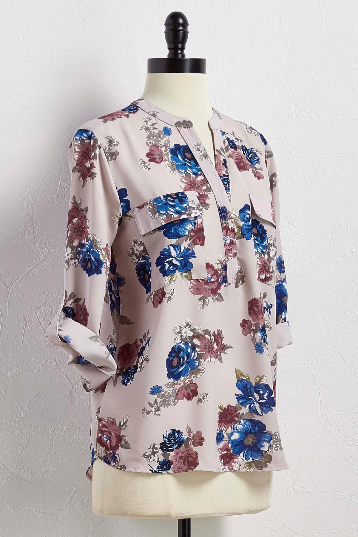Floral Popover Top