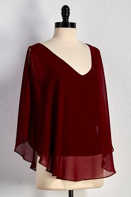 bare shoulder poncho top