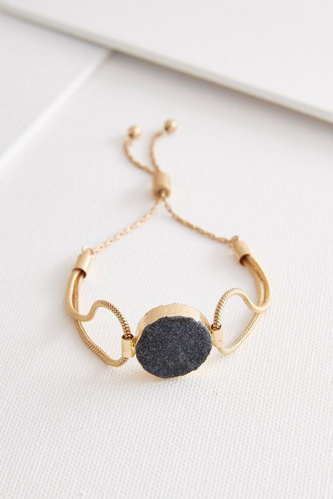 Druzy Stone Snake Chain Bracelet