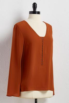 hook and eye henley top