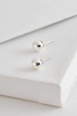 metal ball stud earrings