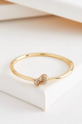pave knot hinge bracelet