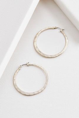 hammered metal hoop earrings