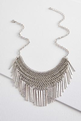 metal fringe chain necklace