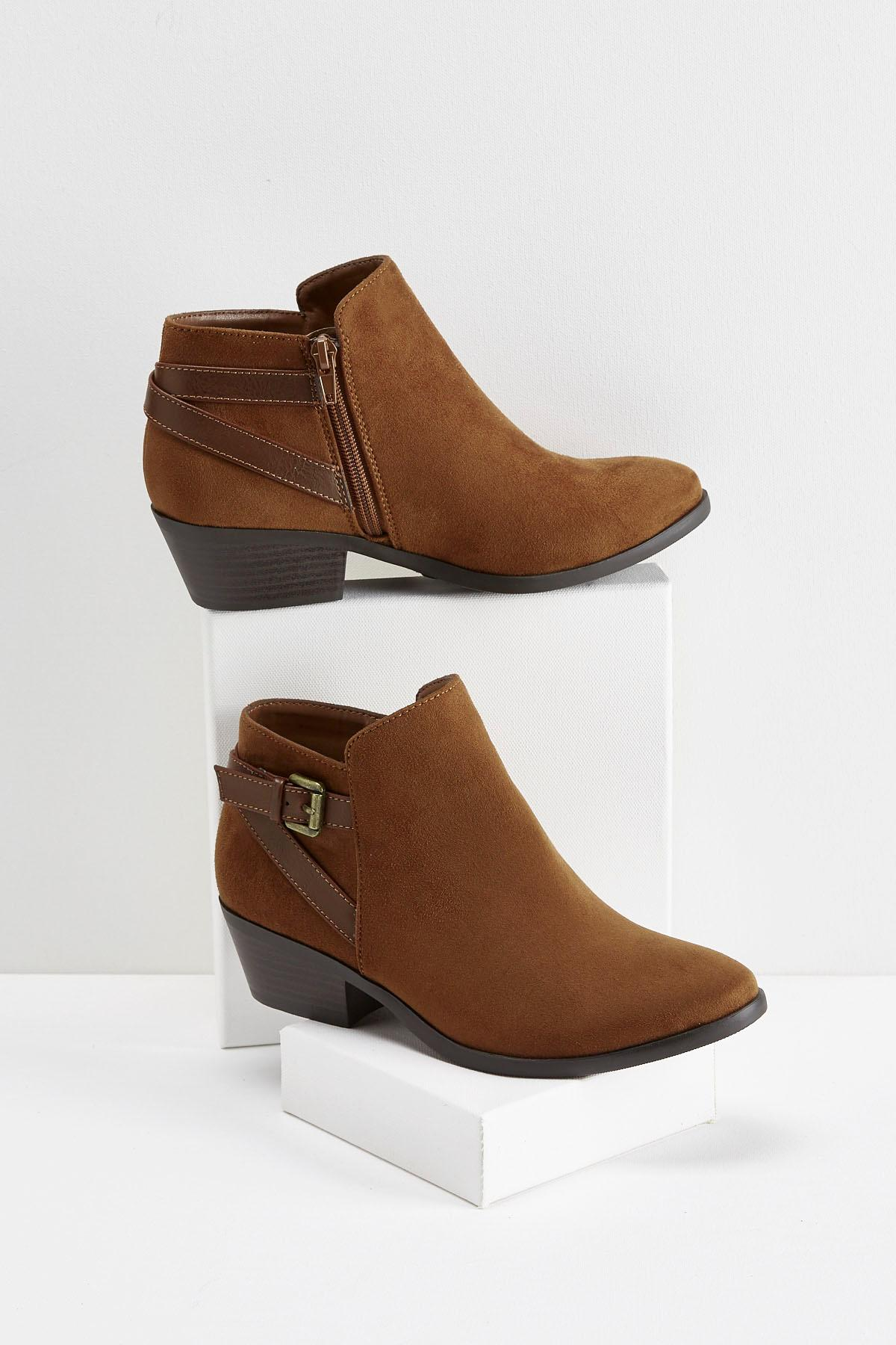 Buckle Back Ankle Boots