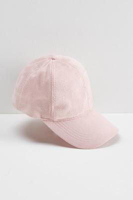 faux suede baseball cap