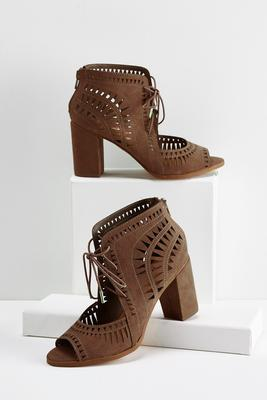cutout lace up shooties