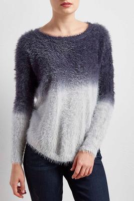 dip dye eyelash sweater