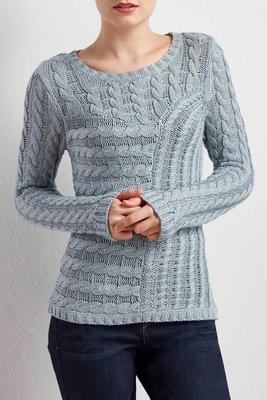 mixed cable knit sweater