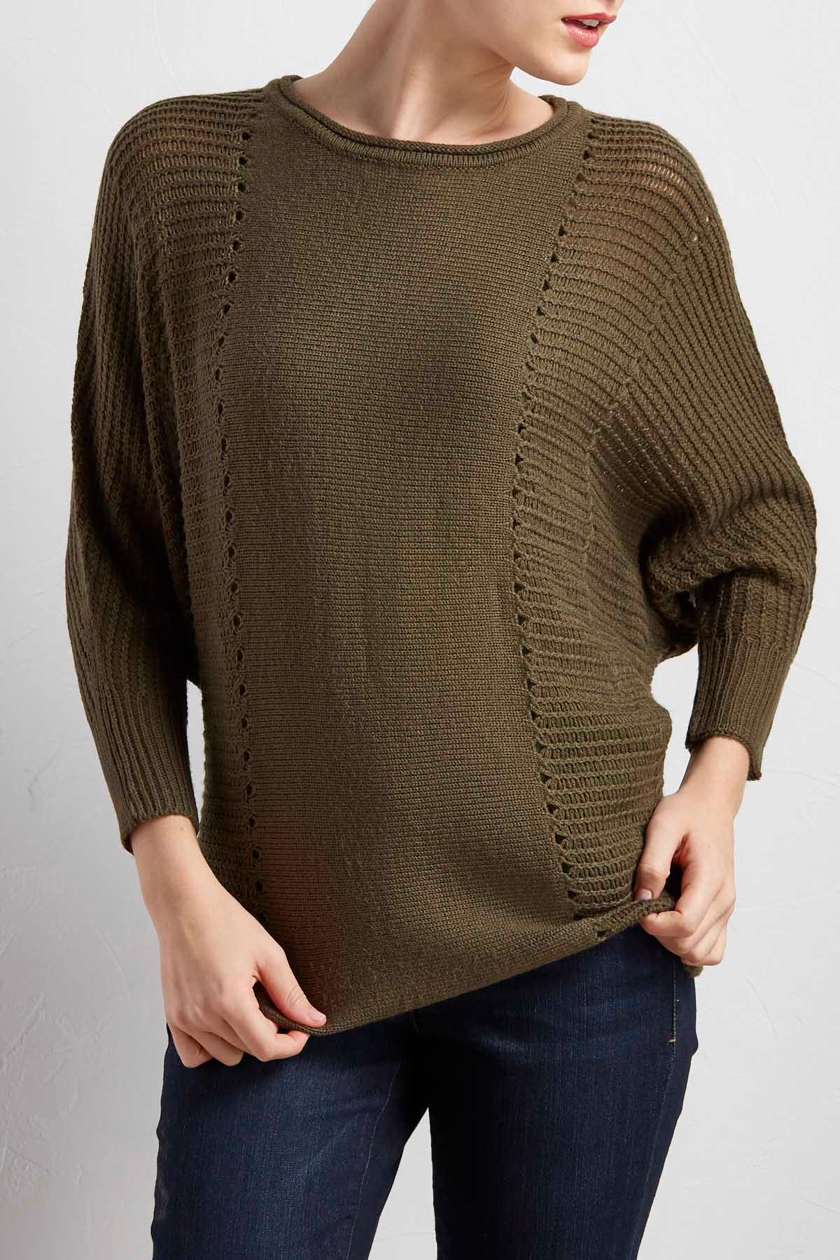 Dolman Open Knit Sweater