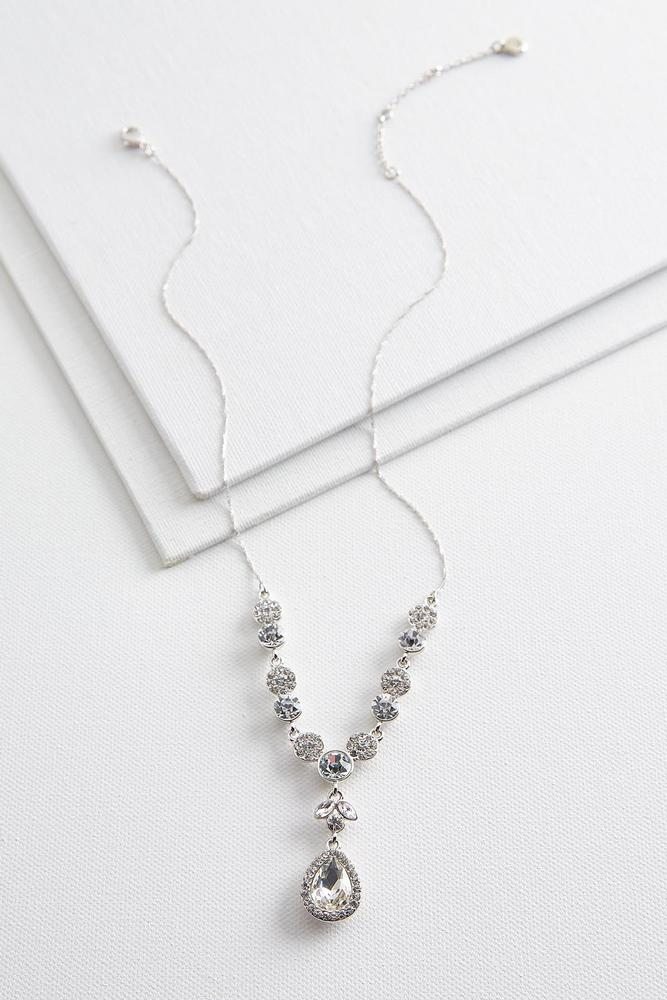 clear urban leading rhinestone crystal set product necklace teardrop