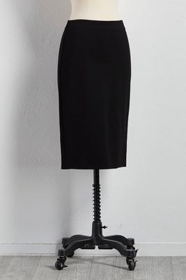 zip back ponte pencil skirt