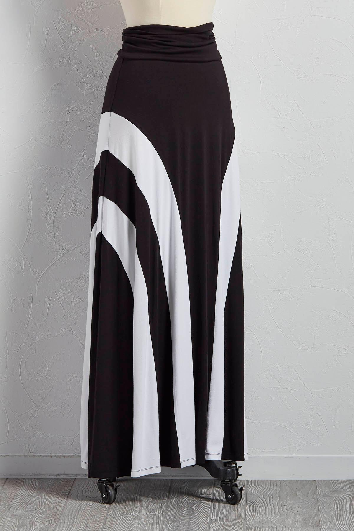 Colorblock Maxi Skirt
