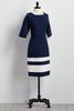 Colorblock Midi Dress