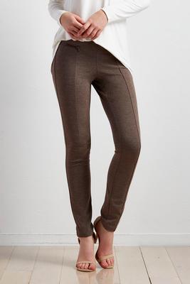 space dyed zipper ponte leggings