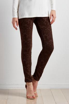 paisley flocked leggings