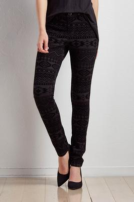 flocked tribal leggings